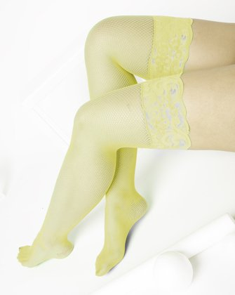 1485 Maize Over Knee Lace Top Fishnets
