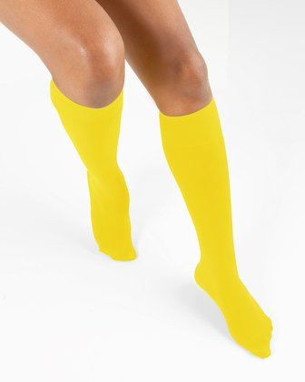 1531 Yellow Knee High Nylon Socks