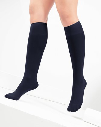 1532 Charcoal Knee High Nylon Socks