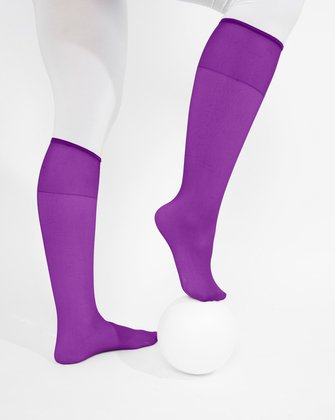 1536 Amethyst Sheer Color Knee Hig Socks