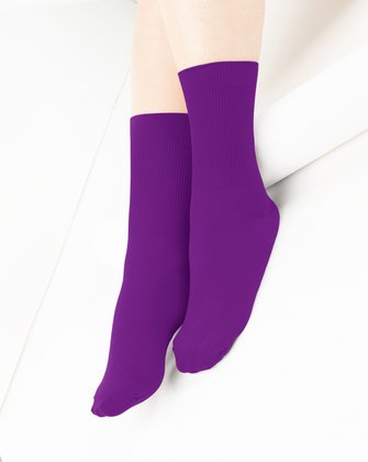 1551 Amethyst Soft Crew Socks