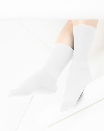 1551 White Soft Crew Socks
