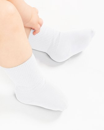 1577 White Tights Solid Color Kids Socks