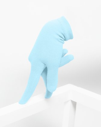 3601 Aqua Short Matte Knitted Seamless Gloves