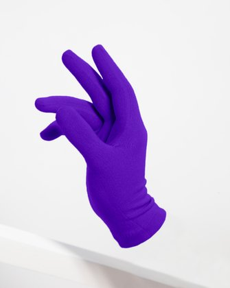 3601 Violet Short Matte Knitted Seamless Gloves