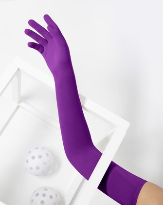 3607 Amethyst Long Matte Knitted Seamless Armsocks Gloves