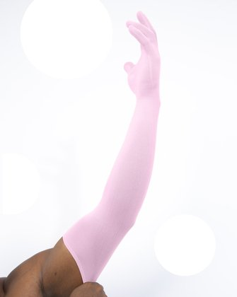 810015b04 Light Pink Long Matte Seamless Gloves