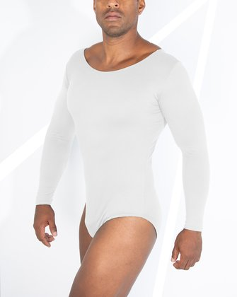 5002 M White Scoop Neck Leotard