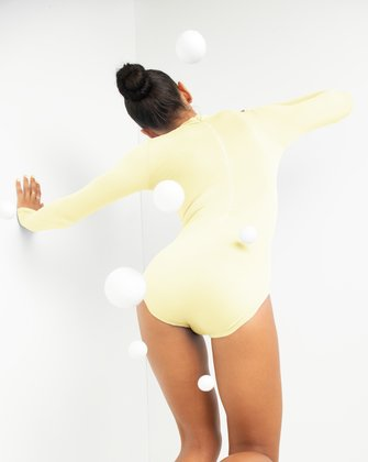 5008 Ivory Turtleneck Leotard