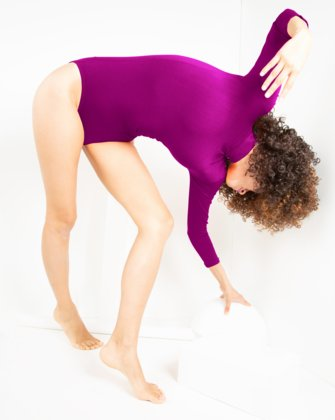 5008 Magenta Turtleneck Leotard