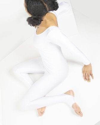5009 White Dance Unitard