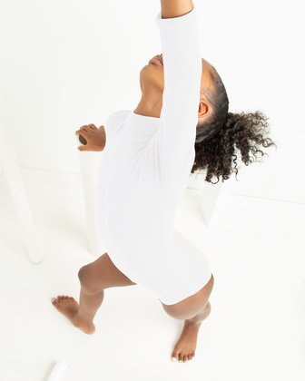 5078 W White Kids Leotard