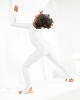 5079 White Kids Unitard