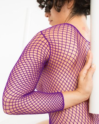 6001 Amethyst Fishnet Shirt