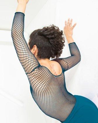 Teal Womens Fishnet Bodywear | We Love Colors