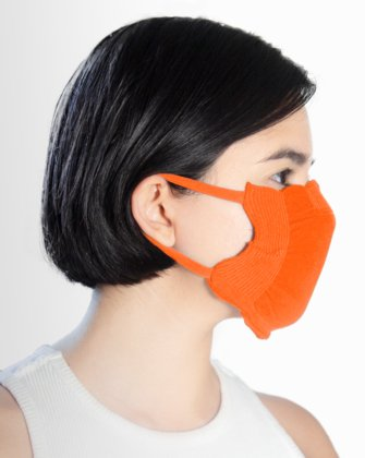 8021 Neon Orange Face Mask