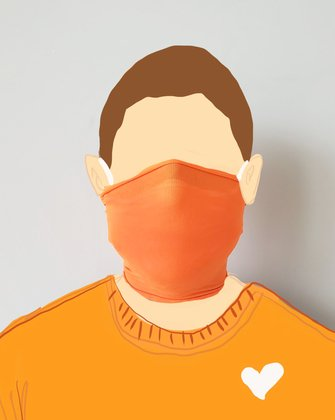 8023 Orange Nylon Neck Face Gaiter