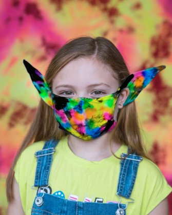 8073 7001 Splash Color Kids Elf Face Mask Covering