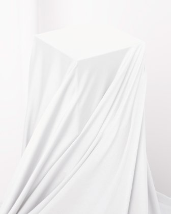 8079 White Shiny Tricot Fabric