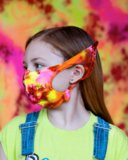 8073 7202 Splash Color Kids Elf Face Mask Covering