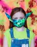 8073 7214 Splash Color Kids Elf Face Mask Covering