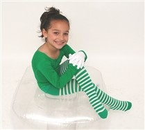 White Striped Kids Tights