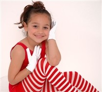 Colored White Striped Kids Tights