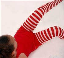 White Striped Kids Tights and Hosiery