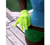 Colored Solid Color Nylon Gloves