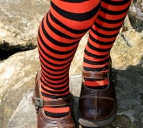 Black Striped Kids Tights and Hosiery