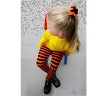 Colorful Black Striped Kids Tights