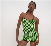 Checkerboard Mini Dress