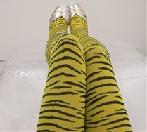Colored Zebra Tights