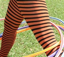 Black Striped Tights and Hosiery