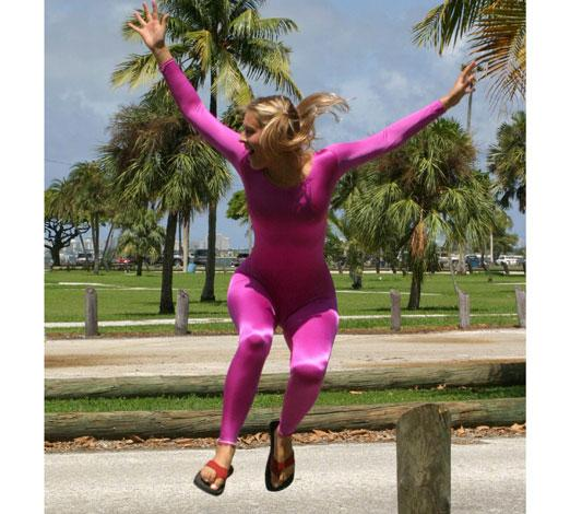 Long Sleeve Unitard :  we love colors fuchsia unitard dance