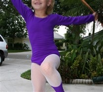 Colored Long Sleeve Scoop Neck Kids Leotard