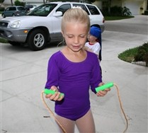 Long Sleeve Scoop Neck Kids Leotard