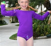 Kids Long Sleeve Scoop Neck Leotard