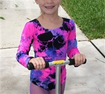 SALE Splash Color Kids Long Sleeve Leotard