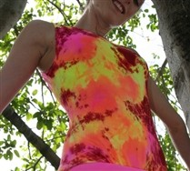 Colorful Splash Color Tank Leotard