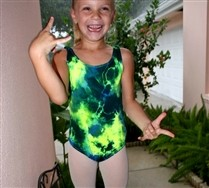 Splash Color Tank Kids Leotard
