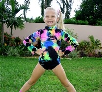 SALE !!Kids Turtle Neck Leotard Splash Color