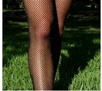 Colorful Lurex Glitter Fishnets