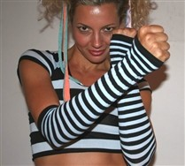 Black Striped Arm Warmers and Hosiery