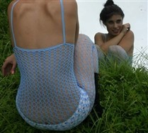 Croche Fishnet Bodystocking
