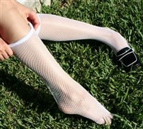 Fishnet Knee Highs :  knee highs fishnets welovecolors fishnet