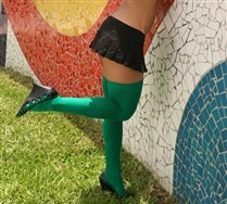 Solid Color Thigh Highs