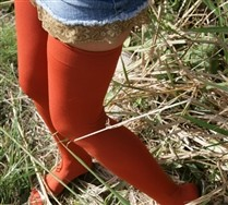 Colorful Solid Color Thigh Highs