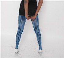 Zig Zag Checkerboard Tights and Hosiery