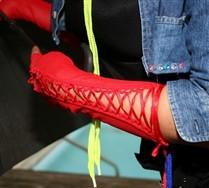 SALE Fishnet Lace Fingerless Gloves